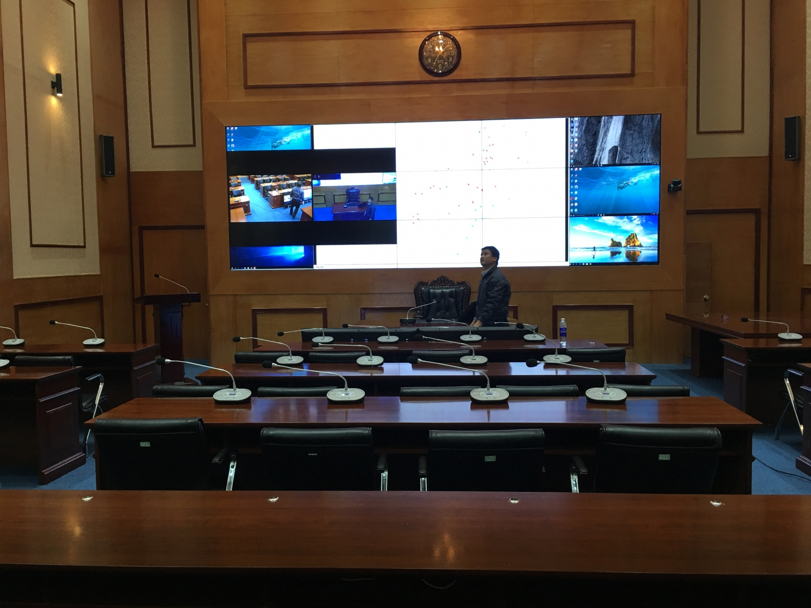 Hai Phong Navy installs a video conferencing system