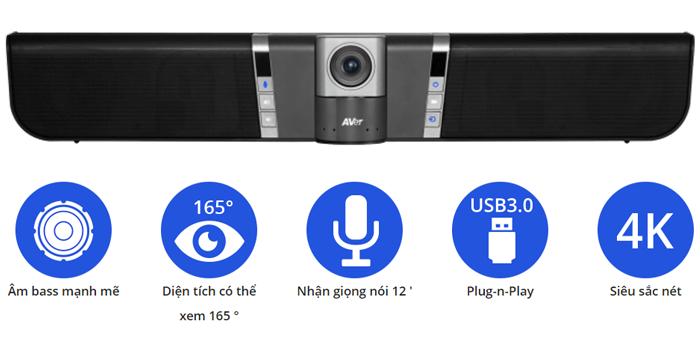 camera hội nghị truyền hình AVer VB342 thiết kế sang trọng
