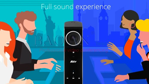 The sound produced by this AVer videoconference device is also impressive