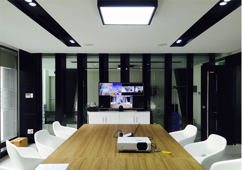 Project video conferencing system for New World Fashion