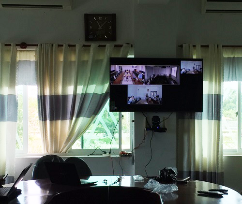 Video conferencing system at the Vung Tau branch of health