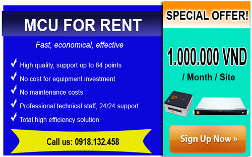 Special discount for renting MCU video conferencing