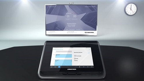 Crestron Mercury's large touch screen