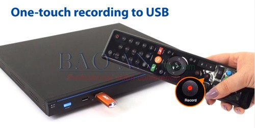 One touch recording feature of the AVer EVC300