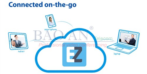 Mobile software for leaders in video conferencing solution 4 points: AVer EZmeetup