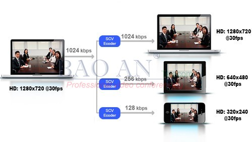 Scalable Video Coding technology of Polycom Group500