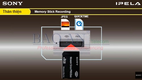 StickTM Memory of Sony PCS-XG80 Online Conference Equipment