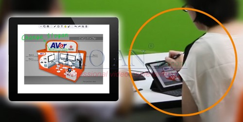Combination of the AVer EVC350 and the online meeting software AVer EZDraw,