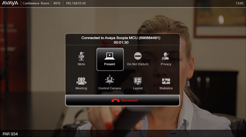 Intuitive and easy to use interface of Avaya Scopia Xt5000