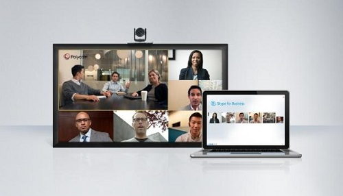 Polycom RealPresence Group Series họp trực tuyến skype for business